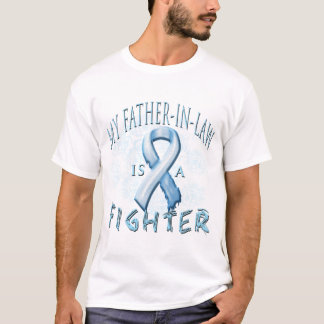 My Father-In-Law is a Fighter Light Blue T-Shirt