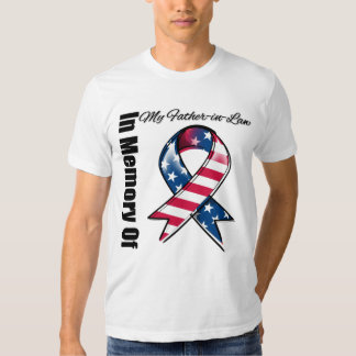 My Father-in-Law Memorial Patriotic Ribbon Shirt