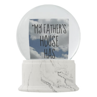 MY FATHER'S HOUSE HAS MANY ROOMS Bible Verse Cloud Snow Globe