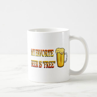 My Favorite Beer is Free Basic White Mug