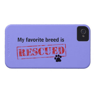 My Favorite Breed Is Rescued Blackberry Cases