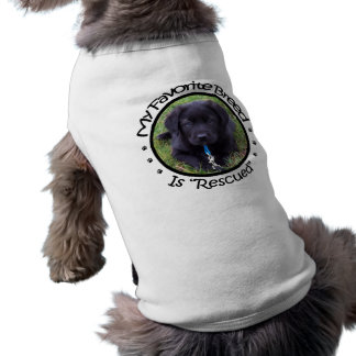 My Favorite Breed Is Rescued Pet Sweater Dog T Shirt