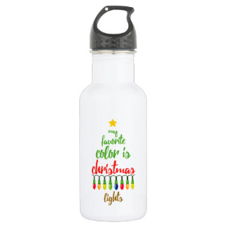 My Favorite Color is Christmas Lights 532 Ml Water Bottle