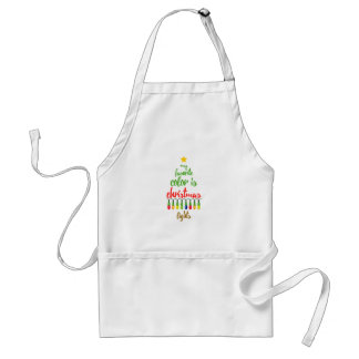 My Favorite Color is Christmas LightsTypography Standard Apron