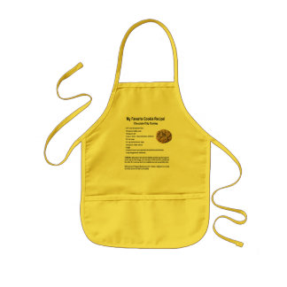 My Favorite Cookie Recipe Chocolate Chips Kids Apron