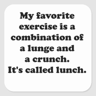 My Favorite Exercise Square Sticker