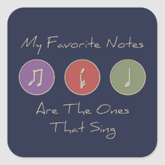 My Favorite Notes Sticker