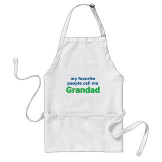 my favorite people call me grandad standard apron