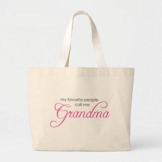 My Favorite People Call Me Grandma Jumbo Tote Bag