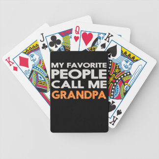 My favorite people call me grandpa bicycle playing cards