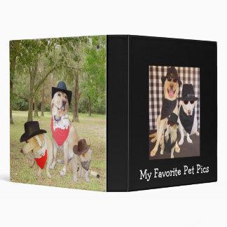 My Favorite Pet Pics 3 Ring Binders