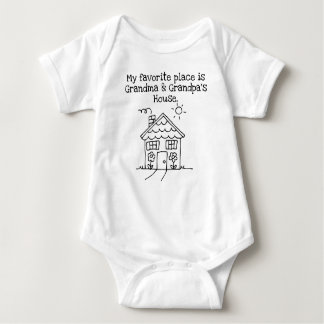 my favorite place is grandma and grandpa house baby bodysuit
