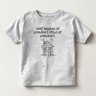 my favorite place is grandma's house toddler t-shirt
