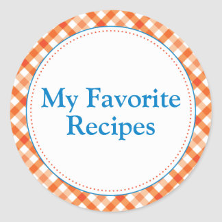 My Favorite Recipes Round Sticker