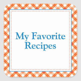 My Favorite Recipes Square Sticker