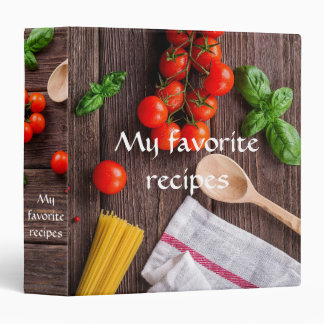 My Favorite Recipes with Tomatos, Spaghetti Photo Vinyl Binder