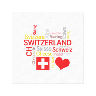 My Favorite Swiss Things Funny Canvas Print