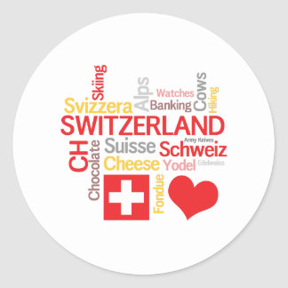 My Favorite Swiss Things Funny Round Sticker
