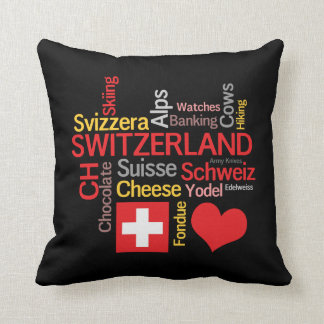 My Favorite Swiss Things Funny Throw Pillow