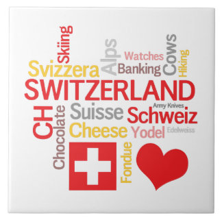 My Favorite Swiss Things Funny Tile
