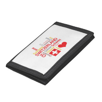 My Favorite Swiss Things Funny Trifold Wallets