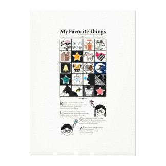 My Favorite Things Canvas Print