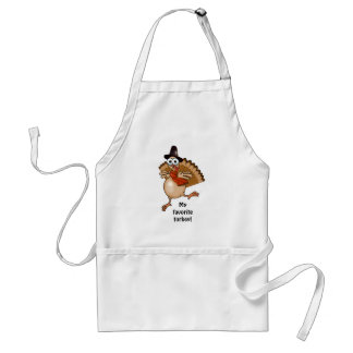 My favorite turkey! Thanksgiving gift apron. Standard Apron