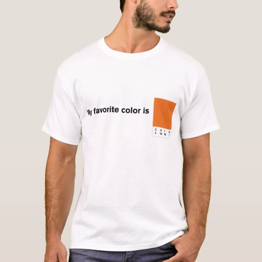 My Favourite Colour is CMYK Orange T-Shirt