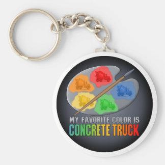 My Favourite Colour Is Concrete Truck Key Chain