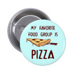My Favourite Food Group is Pizza 2 Inch Round Button