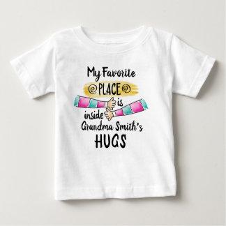 My Favourite Place is inside Grandma's Hug Baby T-Shirt