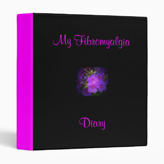 My Fibromyalgia Diary-Binder-Flower Design 3 Ring Binder