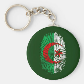 My fingerprint is 100% Algerian Tees and gear Basic Round Button Keychain