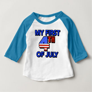 My First 4th of July Baby Patriotic Baby T-Shirt