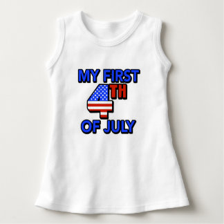 My First 4th of July Baby Patriotic Dress