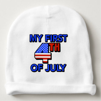 My First 4th of July Baby's Patriotic Baby Beanie
