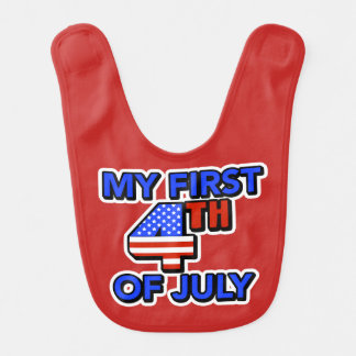 My First 4th of July Baby's Patriotic Bib
