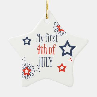 My first 4th of July Ceramic Star Ornament