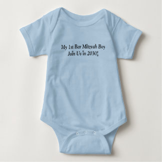 MY FIRST BAR MITZVAH BOY 2030 BLUE CUTE OUTFIT BABY BODYSUIT