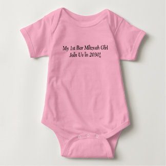MY FIRST BAT MITZVAH GIRL 2030 PINK CUTE OUTFIT BABY BODYSUIT