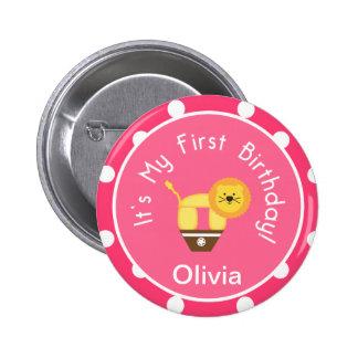 My First Birthday Button