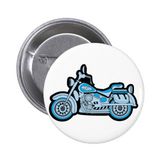 My First Blue Motorcycle 2 Inch Round Button