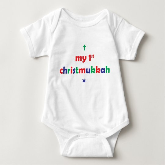 my first chistmukkah baby bodysuit