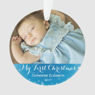 My First Christmas Baby Announcement Keepsake Ornament