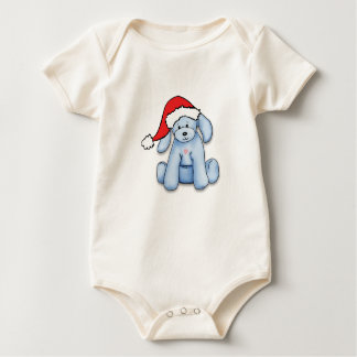 """""""My First Christmas"""" baby bodysuit with cute puppy"""
