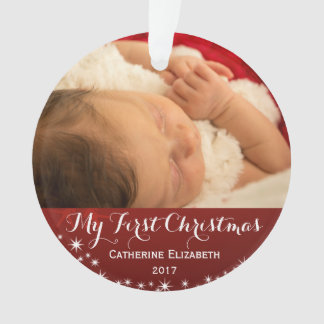 My First Christmas - Baby First Christmas Photo Ornament