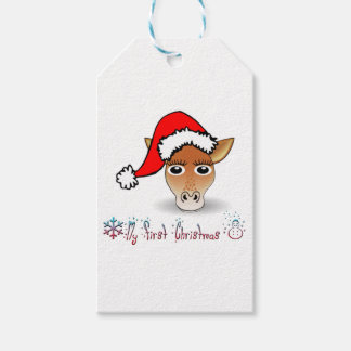 My First Christmas Baby Giraffe Gift Tags
