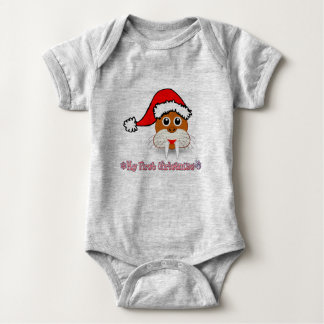 My First Christmas Baby Walrus Baby Bodysuit