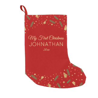 My First Christmas | Custom Elegant First Small Christmas Stocking