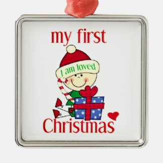 My First Christmas I Am Loved Metal Ornament
